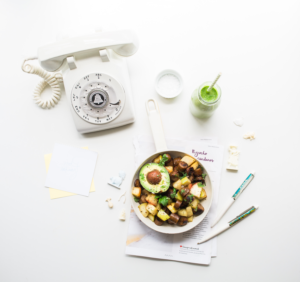 light meal and phone
